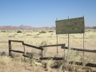 Entering park for Soussusvlei
