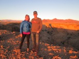 At sunset next to canyon near Soussusvlei
