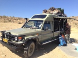 Our souped-up Toyota Land Cruiser - Jon had a crush on it
