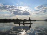 Our Mokoro boat partners in the Okavango