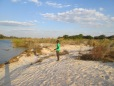 Our Mokoro boat guide hanging out on the shores of the Okavango