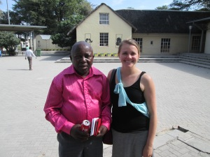 Jen and her friend Joseph from her EE days in Katima Mulilo