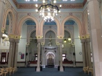 Inside of the Jumeirah Mosque in Dubai