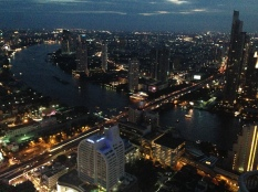 View from rooftop bar in The Hangover 2, Bangkok