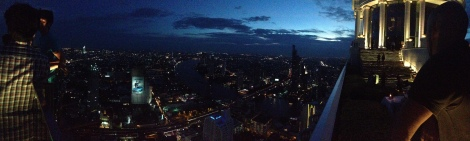 Pano from rooftop bar in The Hangover 2, Bangkok