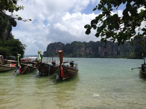 West Railay beach, where we arrived