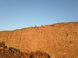 Monkeys on the Great Enclosure wall of Great Zimbabwe