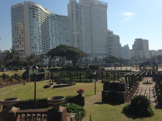 View from the promenade in Durban