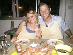 Jon and Jen pre-crab fest with Nuwan, Bangkok, Thailand