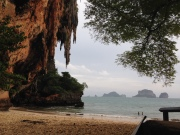 Hat Phra Nang, a small, pretty beach, our favorite in Railay