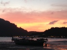 Sunset while walking to the main town in Koh Phi Phi