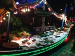 Seafood spread along sidewalk in Koh Samui