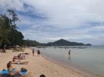 Beach across the street from hotel in Koh Tao