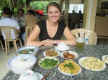 Yummy lunch at a very local restaurant in Saigon