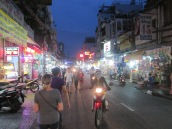 On our way to the night market in a non-touristy area of Saigon