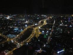 Saigon by night, from the sky bar at the tallest building in Saigon