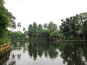 The beautiful lake that forms the center of the nice neighborhoods of Hanoi