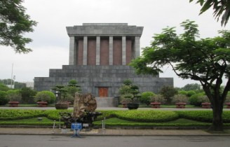 Ho Chi Minh's mausoleum - seeing his embalmed body was worth it, now Jon knows what Jen was talking about for all these years