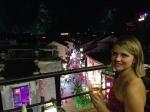 Rooftop bar overlooking the Yangshuo walking streets