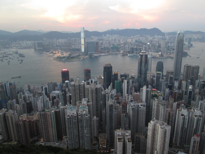 iew from walk on Victoria's Peak