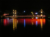 Another bridge lit up around the central lake in Guilin