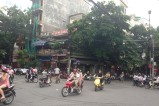 Very typical intersection full of motorbikes - the picture doesn't show the chaos, everyone going in every direction!