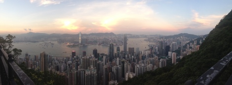 View from walk on Victoria's Peak