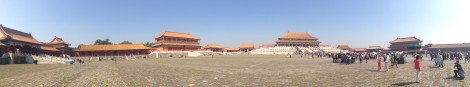 Pano inside the main section of the Forbidden City