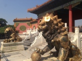 Lions like this guard many of the buildings in the Forbidden City