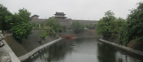 Xi'an city walls - they surround the old town