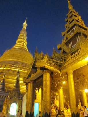 The main pagoda at night