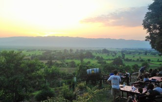 Myanmar vineyard - wines not amazing, but certainly good enough and views were great