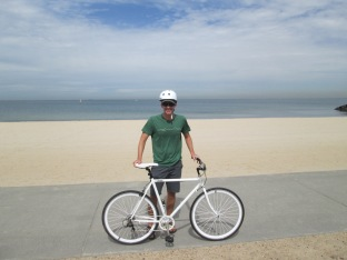 Jon and Poppy lent us their bikes to ride along the beaches and into downtown Melbourne - so fun!