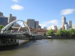 Foot bridge across the river, downtown Melbourne