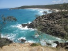 Coast and remote beach in the Noosa Headlands