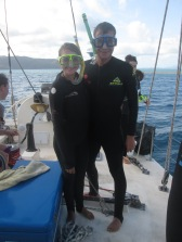 Snorkeling in the Whitsundays, Scuba Steve and Stevette