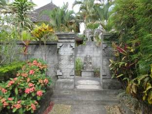 Entrance to our bungalow at our hotel - the grounds were so pretty!