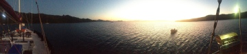 Sunsetting on the boat in the Whitsunday Islands