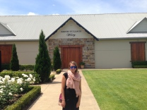 Outside one of the three vineyards we visited in the Hunter Valley