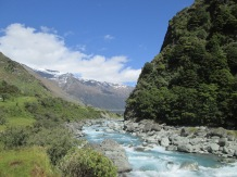 River running from Mt Aspiring National Park