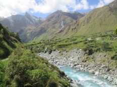 View across river on Rob Roy Glacier track