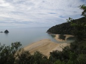 Gorgeous beach views along Abel Tasman
