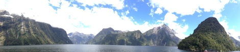 View going out on the Milford Sound cruise