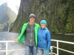 Out on the view deck of our Milford Sound cruise