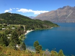 Overlooking Bob's Cove from mtn bike trail, outside of Queenstown
