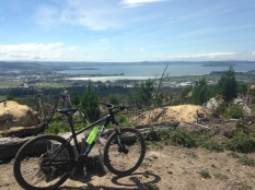 At the top of a hill with tons of great trails, overlooking Lake Rotorua and town