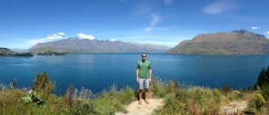 Posing along the road to Glenorchy outside of Queenstown