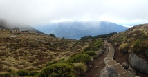 Pano above Luxmore Hut, on path to Luxmore cave