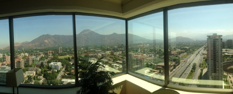Our upgraded suite view overlooking Santiago