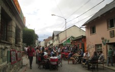 Weekend beer garden in Bariloche